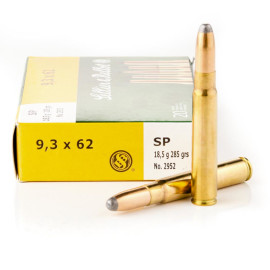 Image For 20 Rounds Of 285 Grain SP Boxer Brass 9.3x62mm Sellier and Bellot Ammunition