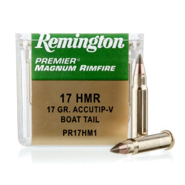 Image For 50 Rounds Of 17 Grain Accutip Rimfire Brass 17 HMR Remington Ammunition