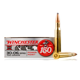 Image For 20 Rounds Of 150 Grain PP Boxer Brass 30-06 Winchester Ammunition