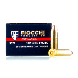 Image For 1000 Rounds Of 142 Grain FMJ Boxer Brass 357 Magnum Fiocchi Ammunition