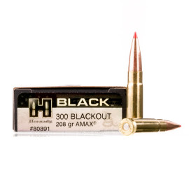 Image For 20 Rounds Of 208 Grain A-MAX Match Boxer Brass 300 Blackout Hornady Ammunition
