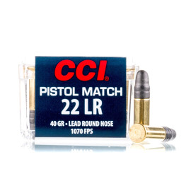 Image For 50 Rounds Of 40 Grain LRN Rimfire Brass 22 LR CCI Ammunition