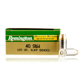 Image For 50 Rounds Of 165 Grain JHP Boxer Nickel-Plated Brass 40 Cal Remington Ammunition