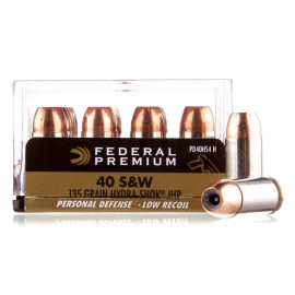 Image For 20 Rounds Of 135 Grain JHP Boxer Nickel-Plated Brass 40 Cal Federal Ammunition