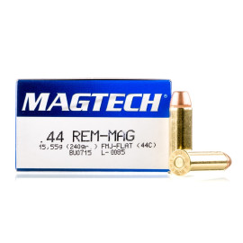 Image For 50 Rounds Of 240 Grain FMJ Boxer Brass 44 Magnum Magtech Ammunition