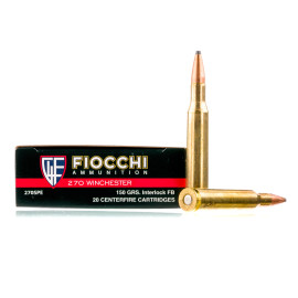 Image For 20 Rounds Of 150 Grain PSP Boxer Brass 270 Win Fiocchi Ammunition