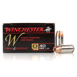 Image For 20 Rounds Of 180 Grain JHP Boxer Nickel-Plated Brass 40 Cal Winchester Ammunition