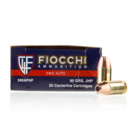 Image For 1000 Rounds Of 90 Grain JHP Boxer Brass 380 ACP Fiocchi Ammunition