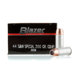 Image For 50 Rounds Of 200 Grain JHP Boxer Aluminum 44 S&W Special Blazer Ammunition
