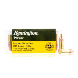 Image For 100 Rounds Of 36 Grain TC-SB Rimfire Brass 22 LR Remington Ammunition