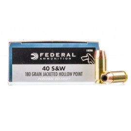 Image For 500 Rounds Of 180 Grain JHP Boxer Brass 40 Cal Federal Ammunition