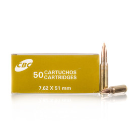 Image For 50 Rounds Of 168 Grain HPBT Boxer Brass 308 Win Magtech Ammunition
