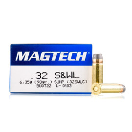 Image For 50 Rounds Of 98 Grain SJHP Boxer Brass 32 S&W Long Magtech Ammunition