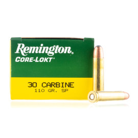 Image For 50 Rounds Of 110 Grain SP Boxer Brass 30 Carbine Remington Ammunition