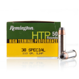 Image For 50 Rounds Of 110 Grain SJHP Boxer Nickel-Plated Brass 38 Special Remington Ammunition