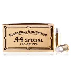 Image For 50 Rounds Of 210 Grain LFN Boxer Brass 44 S&W Special Black Hills Ammunition Ammunition
