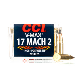Image For 50 Rounds Of 17 Grain V-MAX Rimfire Brass 17 HM2 CCI Ammunition