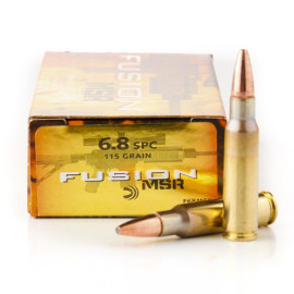 Image For 20 Rounds Of 115 Grain Fusion Boxer Brass 6.8 SPC Federal Ammunition