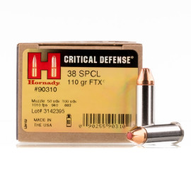 Image For 250 Rounds Of 110 Grain JHP Boxer Nickel-Plated Brass 38 Special Hornady Ammunition