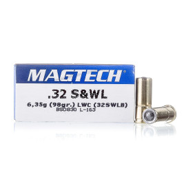 Image For 50 Rounds Of 98 Grain LWC Boxer Brass 32 S&W Long Magtech Ammunition