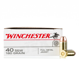 Image For 50 Rounds Of 180 Grain FMJ Boxer Brass 40 Cal Winchester Ammunition