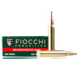 Image For 20 Rounds Of 150 Grain SPBT Boxer Brass 300 Win Mag Fiocchi Ammunition