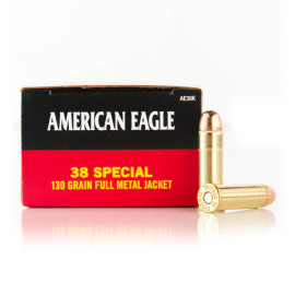 Image For 50 Rounds Of 130 Grain FMJ Boxer Brass 38 Special Federal Ammunition