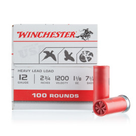 Image For 100 Rounds Of 1-1/8 oz. #7-1/2 Shot 12 Gauge Winchester Ammunition