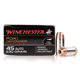 Image For 20 Rounds Of 230 Grain JHP Boxer Nickel-Plated Brass 45 Auto Winchester Ammunition