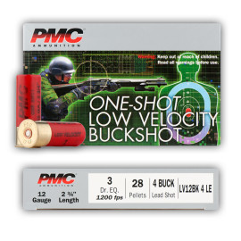 Image For 5 Rounds Of #4 Buck 12 Gauge PMC Ammunition