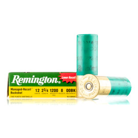 Image For 100 Rounds Of #00 Buck 12 Gauge Remington Ammunition