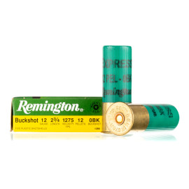 Image For 5 Rounds Of #0 Buck 12 Gauge Remington Ammunition