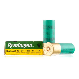 Image For 250 Rounds Of #4 Buck 12 Gauge Remington Ammunition