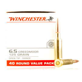 Image For 200 Rounds Of 125 Grain Open Tip Boxer Brass 6.5 Creedmoor Winchester Ammunition