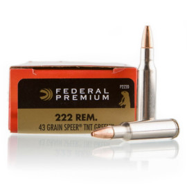 Image For 20 Rounds Of 43 Grain HP Boxer Nickel-Plated Brass 222 Rem Federal Ammunition