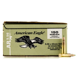 Image For 150 Rounds Of 62 Grain FMJ Boxer Brass 5.56x45 Federal Ammunition