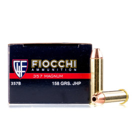 Image For 50 Rounds Of 158 Grain JHP Boxer Brass 357 Magnum Fiocchi Ammunition