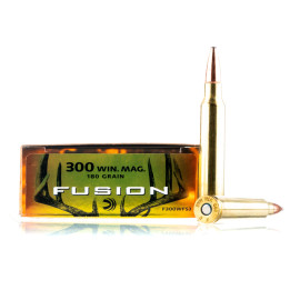 Image For 20 Rounds Of 180 Grain Fusion Boxer Brass 300 Win Mag Federal Ammunition