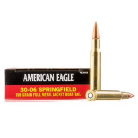 Image For 20 Rounds Of 150 Grain FMJ-BT Boxer Brass 30-06 Federal Ammunition