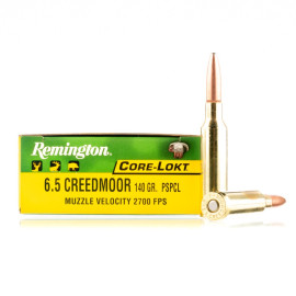 Image For 20 Rounds Of 140 Grain PSP Boxer Brass 6.5 Creedmoor Remington Ammunition