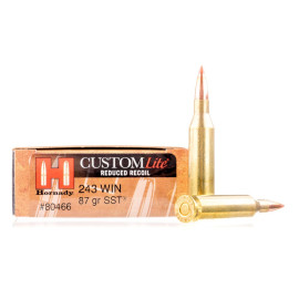 Image For 20 Rounds Of 87 Grain SST Boxer Brass 243 Win Hornady Ammunition