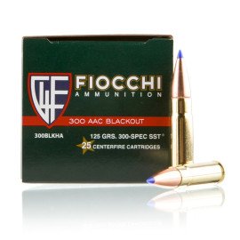 Image For 25 Rounds Of 125 Grain SST Boxer Brass 300 Blackout Fiocchi Ammunition