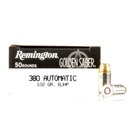 Image For 50 Rounds Of 102 Grain JHP Boxer Nickel-Plated Brass 380 ACP Remington Ammunition