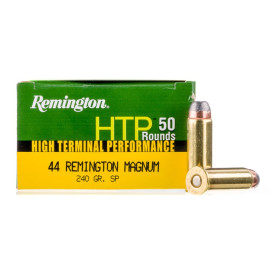 Image For 500 Rounds Of 240 Grain SP Boxer Brass 44 Magnum Remington Ammunition