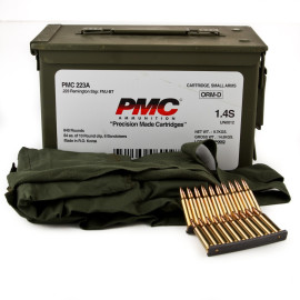 Image For 840 Rounds Of 55 Grain FMJ-BT Boxer Brass 223 Rem PMC Ammunition