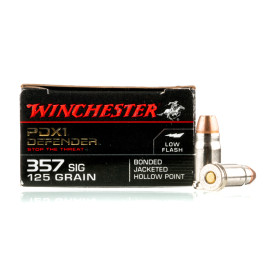 Image For 20 Rounds Of 125 Grain JHP Boxer Nickel-Plated Brass 357 Sig Winchester Ammunition