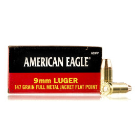 Image For 50 Rounds Of 147 Grain FMJ Boxer Brass 9mm Federal Ammunition