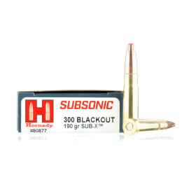 Image For 20 Rounds Of 190 Grain Polymer Tipped Boxer Brass 300 Blackout Hornady Ammunition