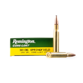 Image For 20 Rounds Of 165 Grain PSP Boxer Brass 30-06 Remington Ammunition