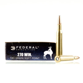 Image For 200 Rounds Of 130 Grain SP Boxer Brass 270 Win Federal Ammunition